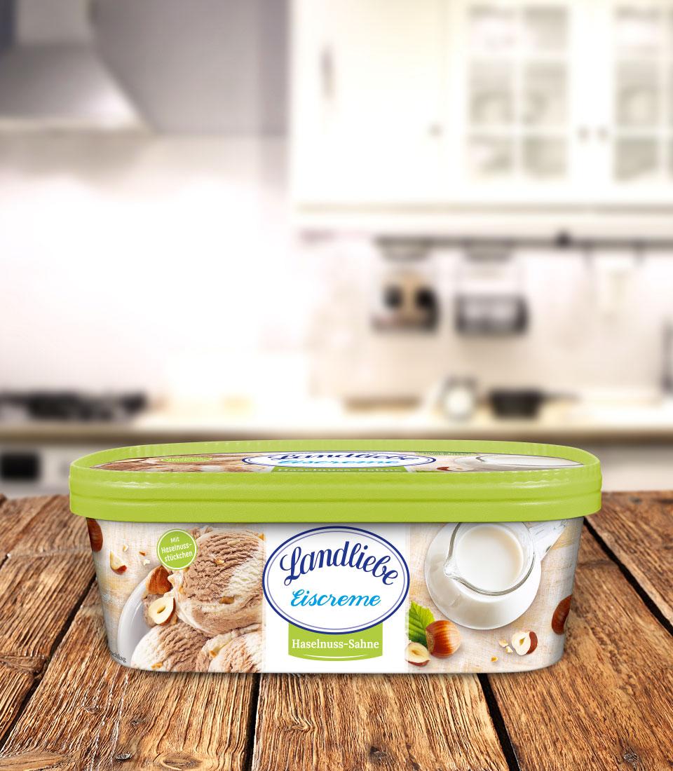 Landliebe Eiscreme Haselnuss-Sahne