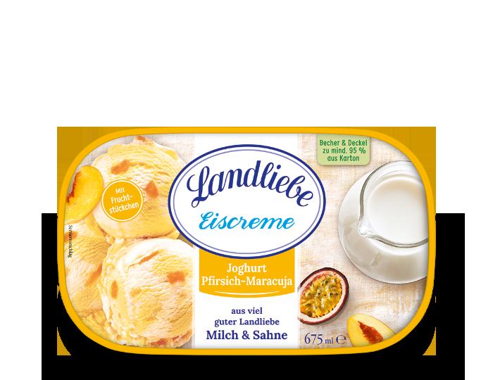 Landliebe Eiscreme Joghurt Pfirsich-Maracuja