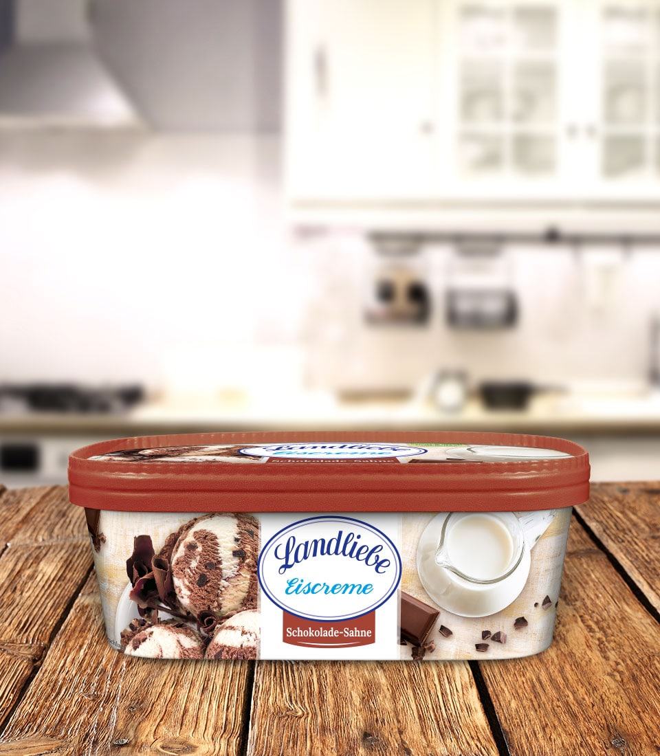 Landliebe Eiscreme Schokolade-Sahne