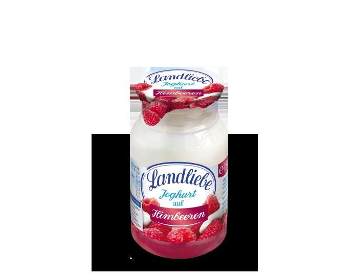 Landliebe Joghurt auf Himbeeren