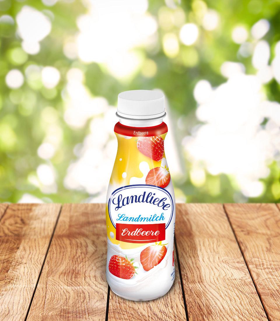 Landliebe Landmilch Erdbeere