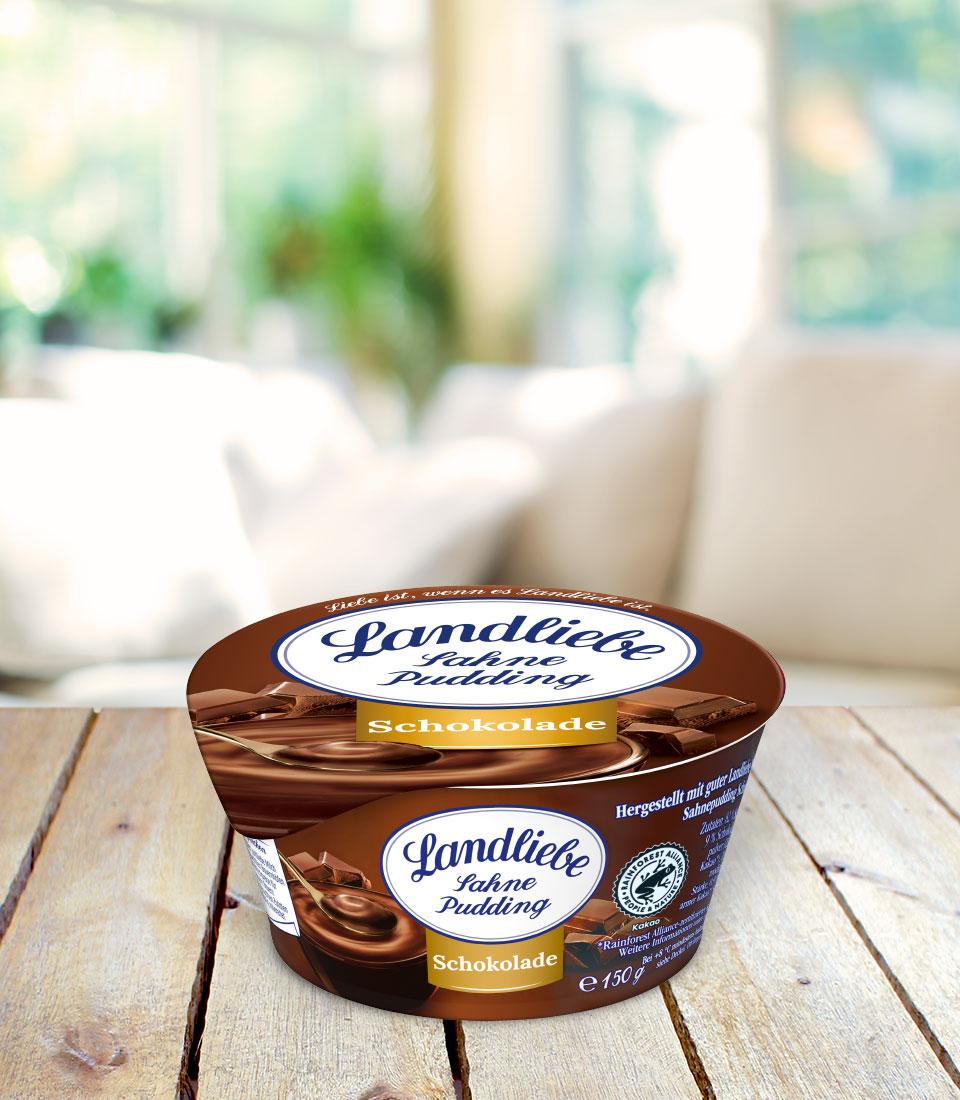 Landliebe Sahnepudding Schokolade