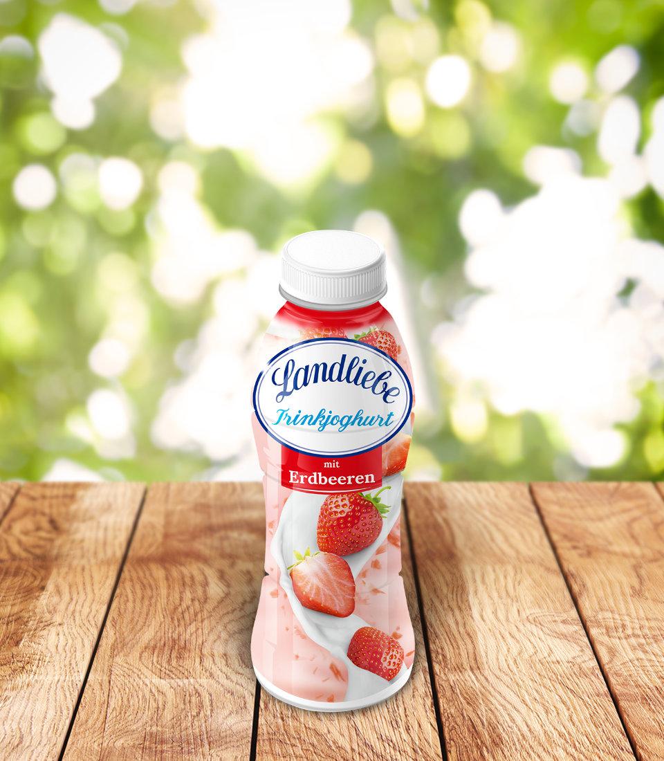 Landliebe Trinkjoghurt mit Erdbeeren