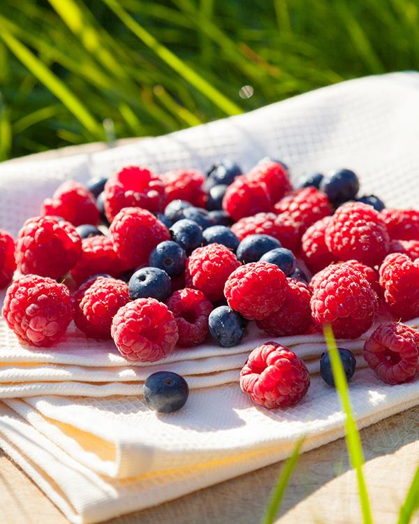 Mit erlesenen Früchten/Zutaten