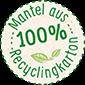Mantel aus 100% Recyclingkarton