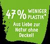 47% weniger Plastik*