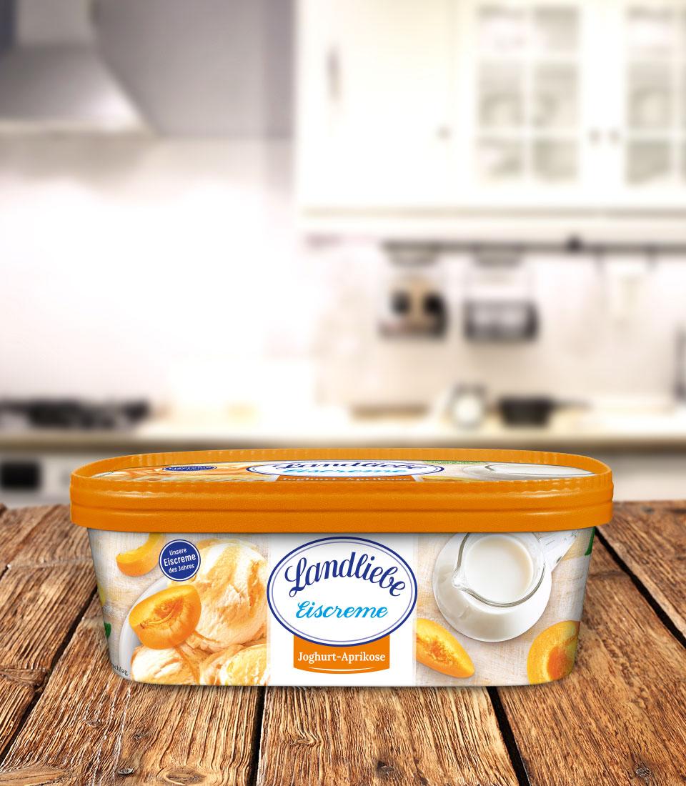 Landliebe Eiscreme Joghurt-Aprikose