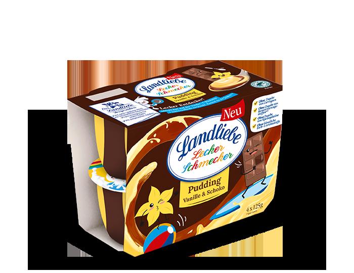 Landliebe Pudding Vanille & Schoko