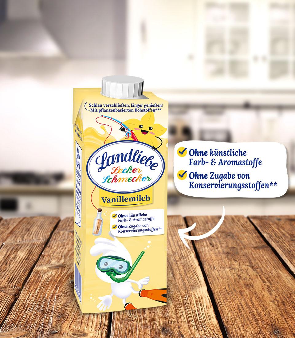 Landliebe Lecker Schmecker Vanillemilch