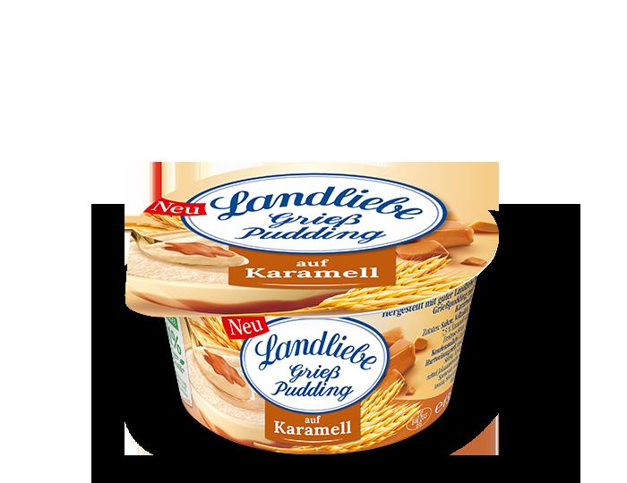 Landliebe Grießpudding auf Karamell