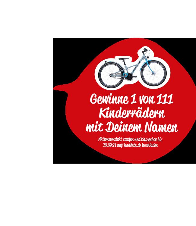 Gewinne 1 von 111 Kinderrädern mit Deinem Namen