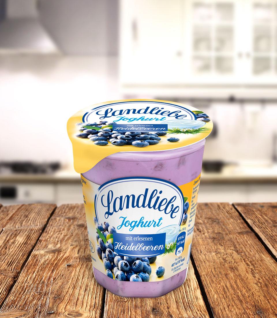 Landliebe Fruchtjoghurt Heidelbeere