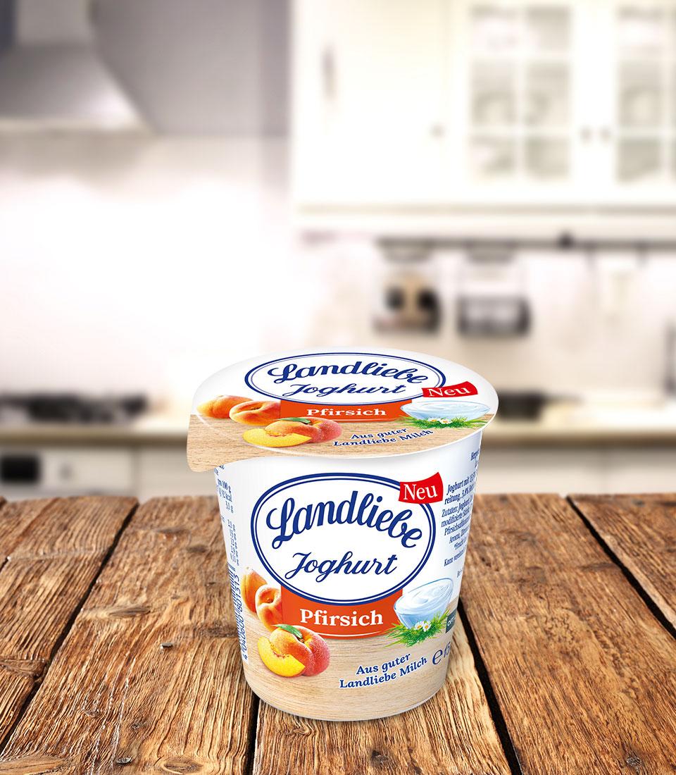 Landliebe Fruchtjoghurt Pfirsich