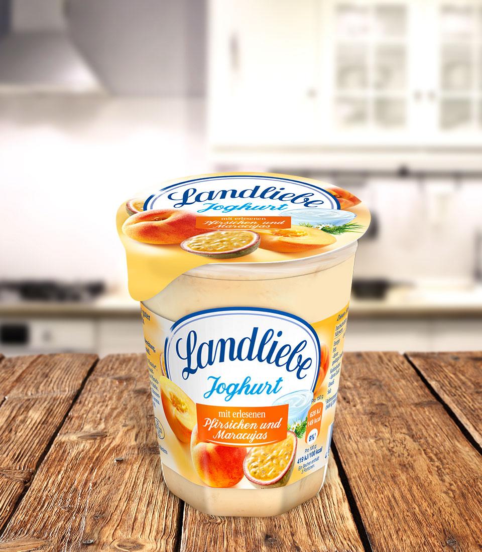 Landliebe Fruchtjoghurt Pfirsich-Maracuja