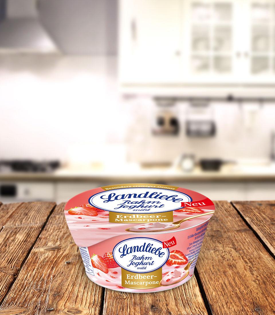 Landliebe Rahmjoghurt Erdbeer-Mascarpone