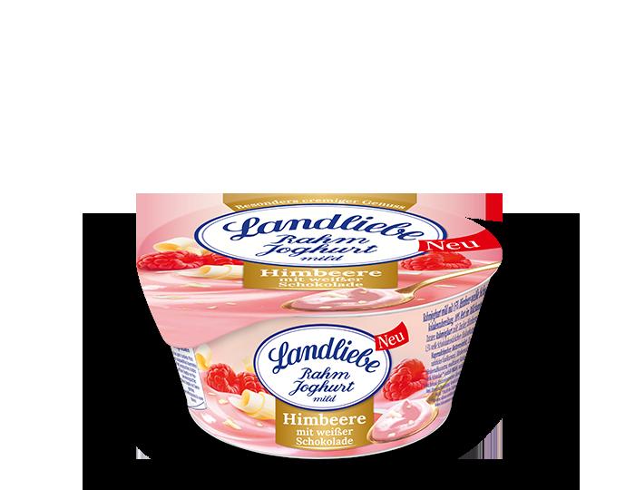 Landliebe Rahmjoghurt Himbeere mit weißer Schokolade